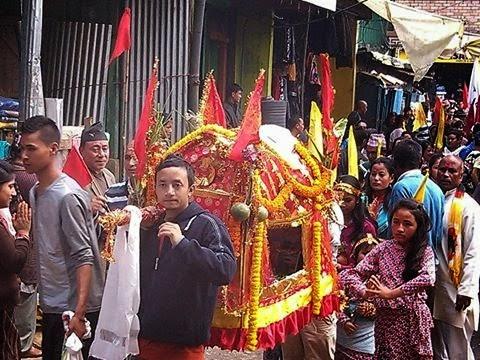 Phulpati - Fulpati celebration  2014 Sukhiapokhri