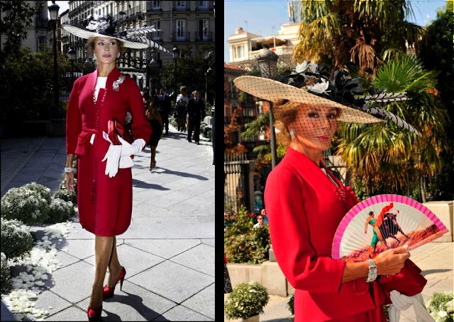 Naty Abascal vestida de Dior en la boda de Miryam Yébenes