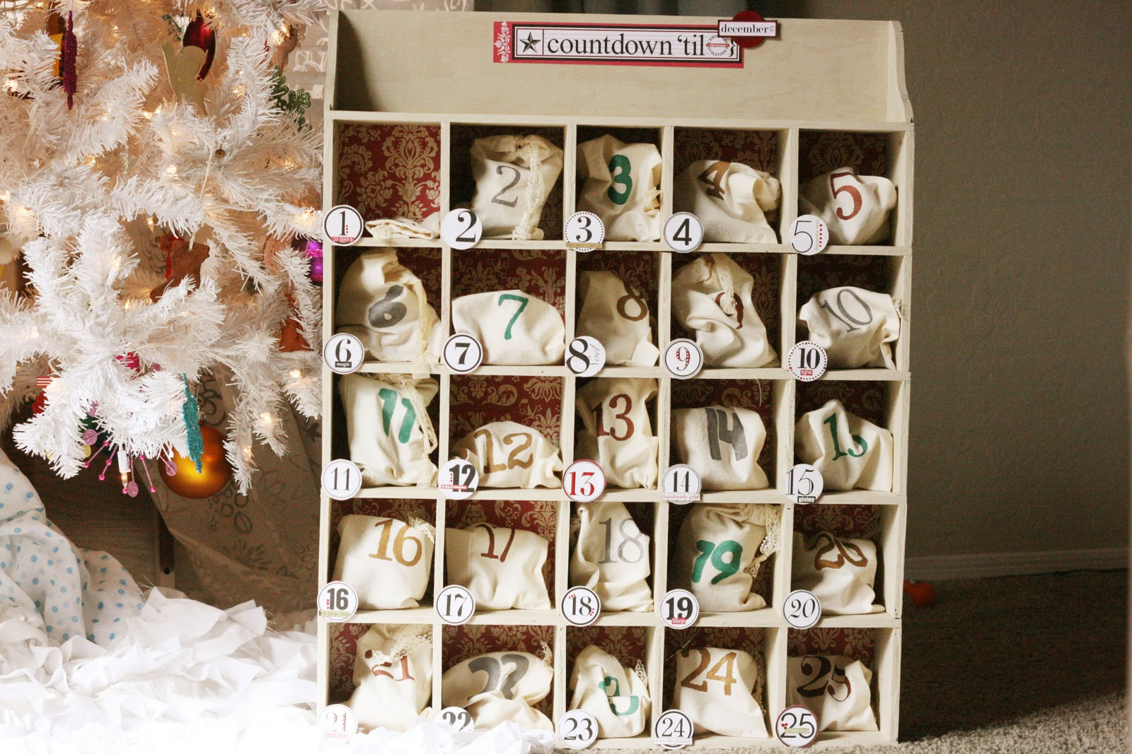 sparklinbecks advent calendar. Black Bedroom Furniture Sets. Home Design Ideas