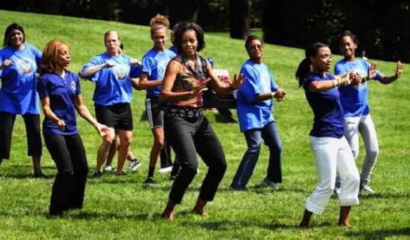 Michelle Obama Dances! Youtube Videos