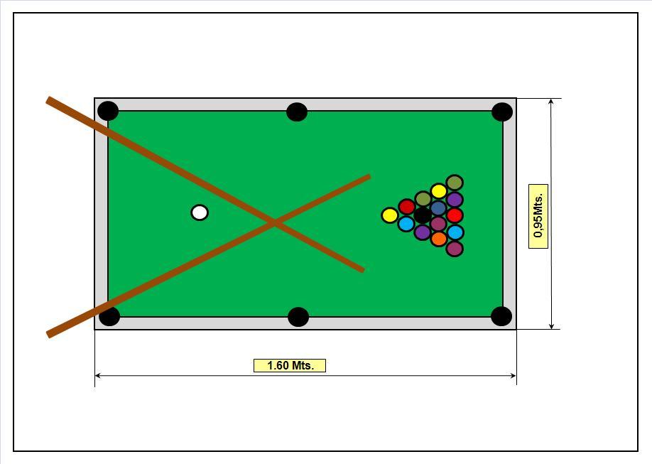 Peque o saltamontes diversi n para tu fiesta mini pool - Medidas mesa billar ...