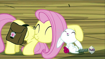 Fluttershy says a sweet goodbye to Angel