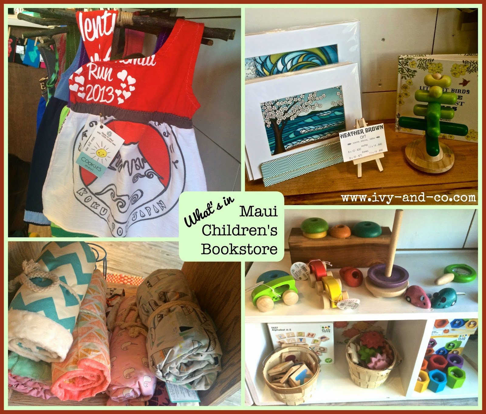 Maui Children's Bookstore Wailuku Kids Books Ivy and Company Where to Shop