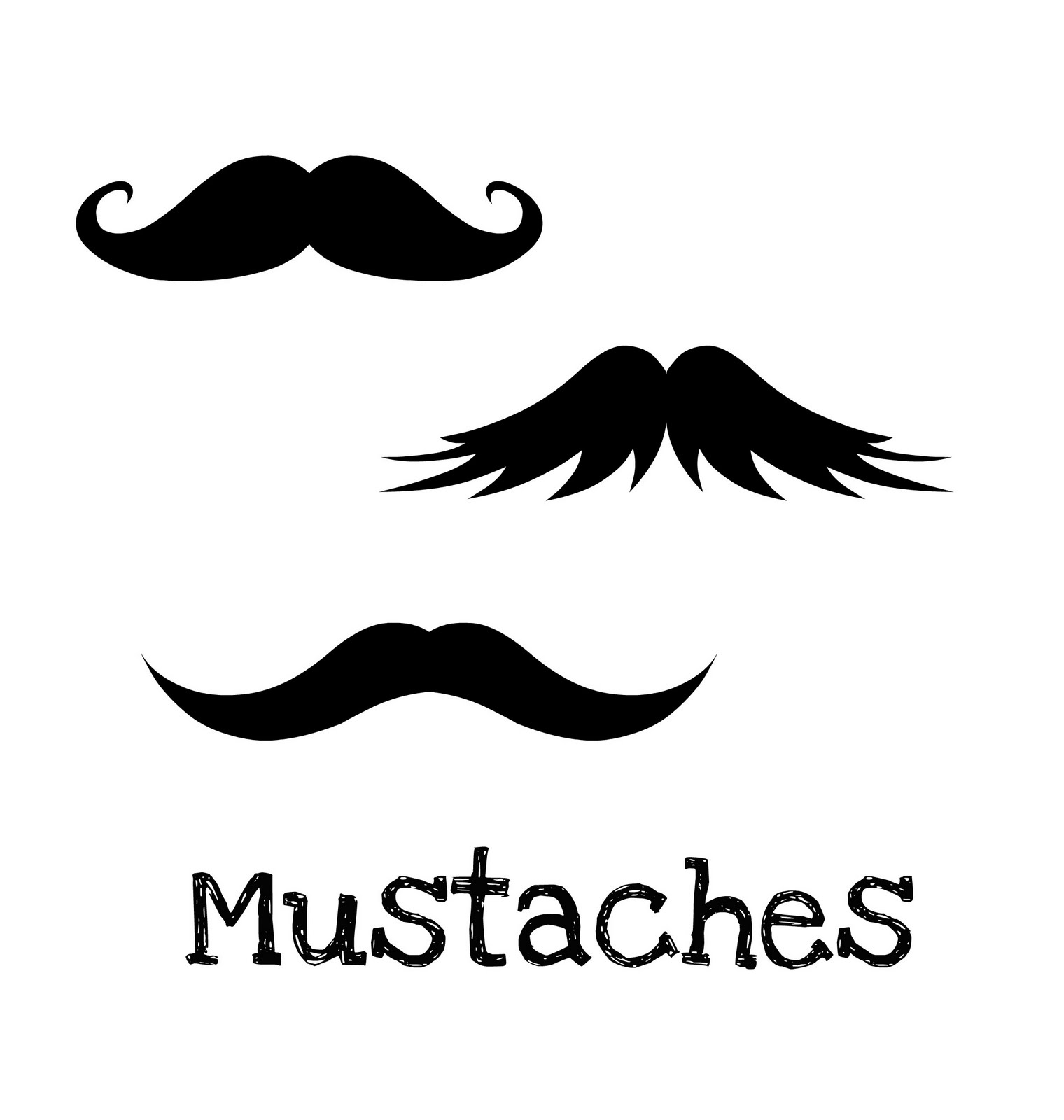 French Mustache Template Free Mustache Cut Out Template