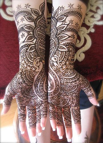 Arabic Bridal Henna Designs Photo