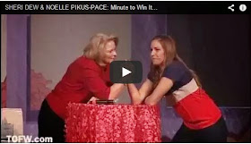 Sheri Dew and Noelle Pikus Pace in a Minute to Win IT Challenge