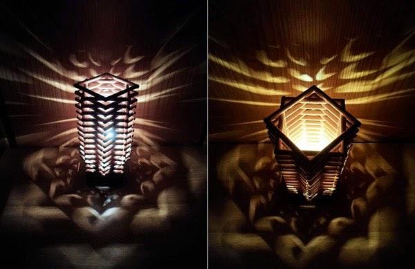Lampara con palitos imaginacion y creatividad - Manualidades con lamparas ...