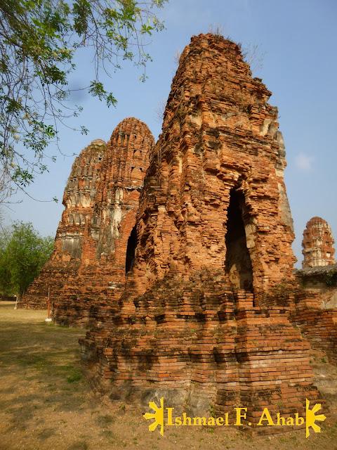 Stupas in Wat Mahathat, Ayutthaya Historical Park
