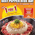 Pepper Lunch Singapore: 1 For 1 Beef Pepper Rice (till 22 Sep 2015)