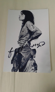 Patti Smith autographed photo