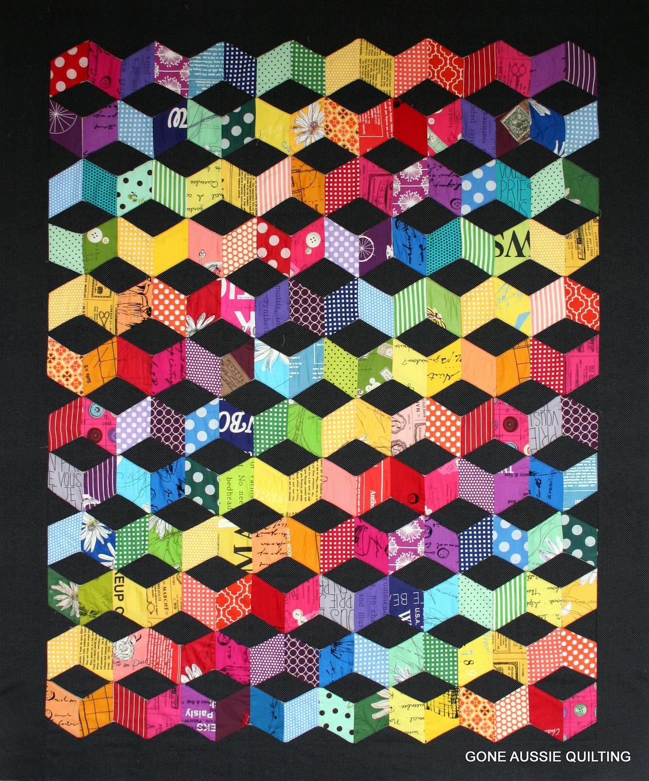 Tumbling Blocks Quilt Pattern Magnificent Gone Aussie Quilting