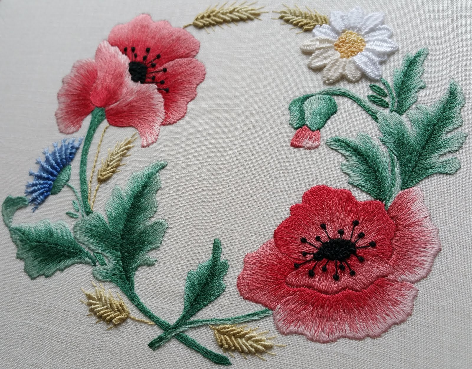 Flanders Poppies (A Master Class in Silk Shading)