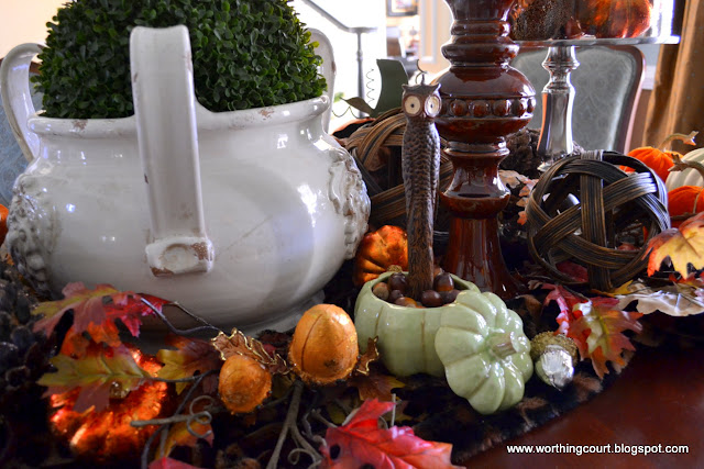 Fall centerpiece via Worthing Court blog