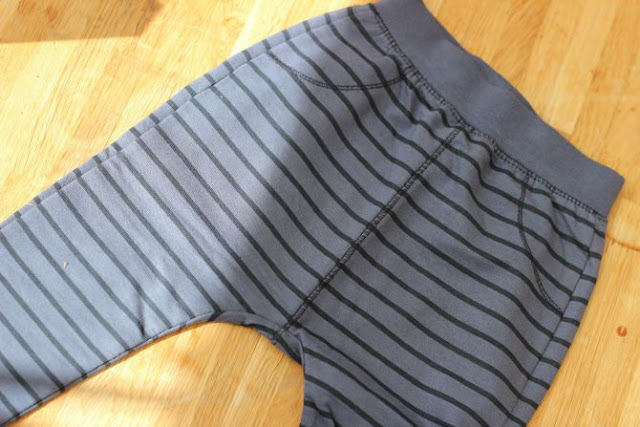Zara baby boy blue stripe leggings