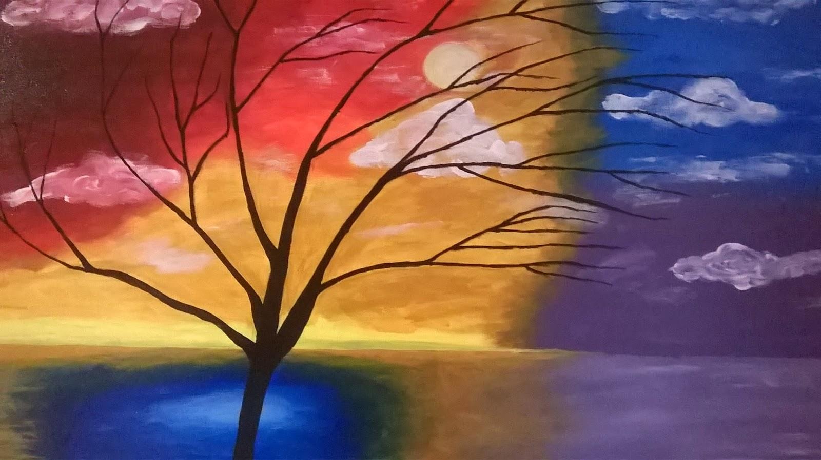 Pintura sobre lienzo con acrilico - Acrilico sobre lienzo ...