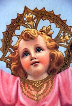 Imagen del rostro del Divino Niño Jesus