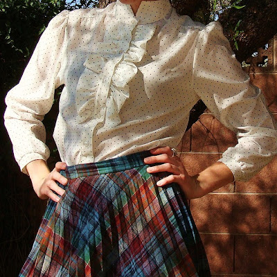 vintage ruffled blouse