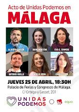 Acto de UNIDAS Poemos en Málaga