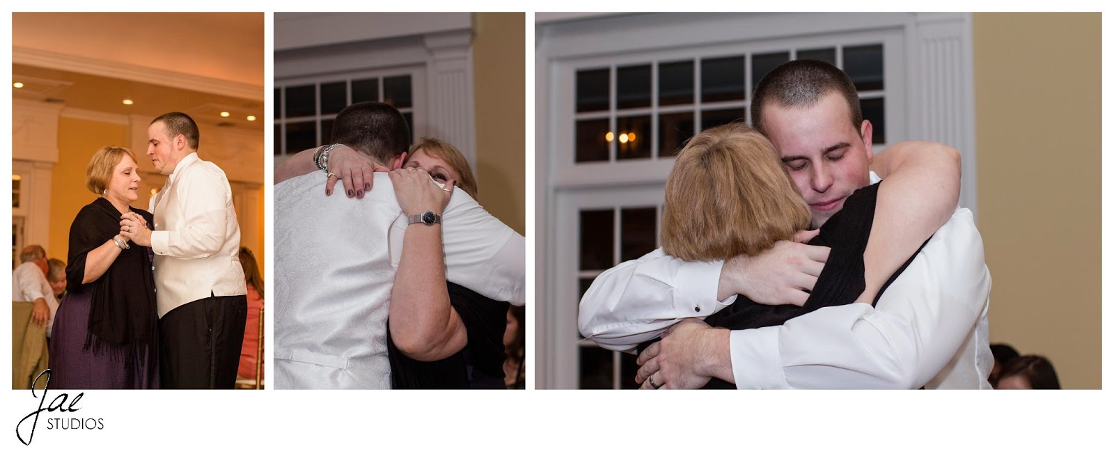 Jonathan and Julie, Bird cage, West Manor Estate, Wedding, Lynchburg, Virginia, Jae Studios, mother, groom, dancing, hugging, reception