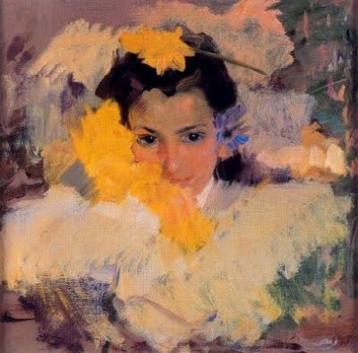 Noia amb flors (Joaquim Sorolla)