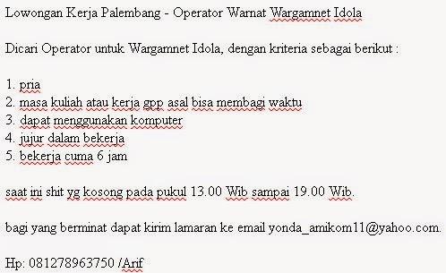 Operator Warnat Wargamnet Idola