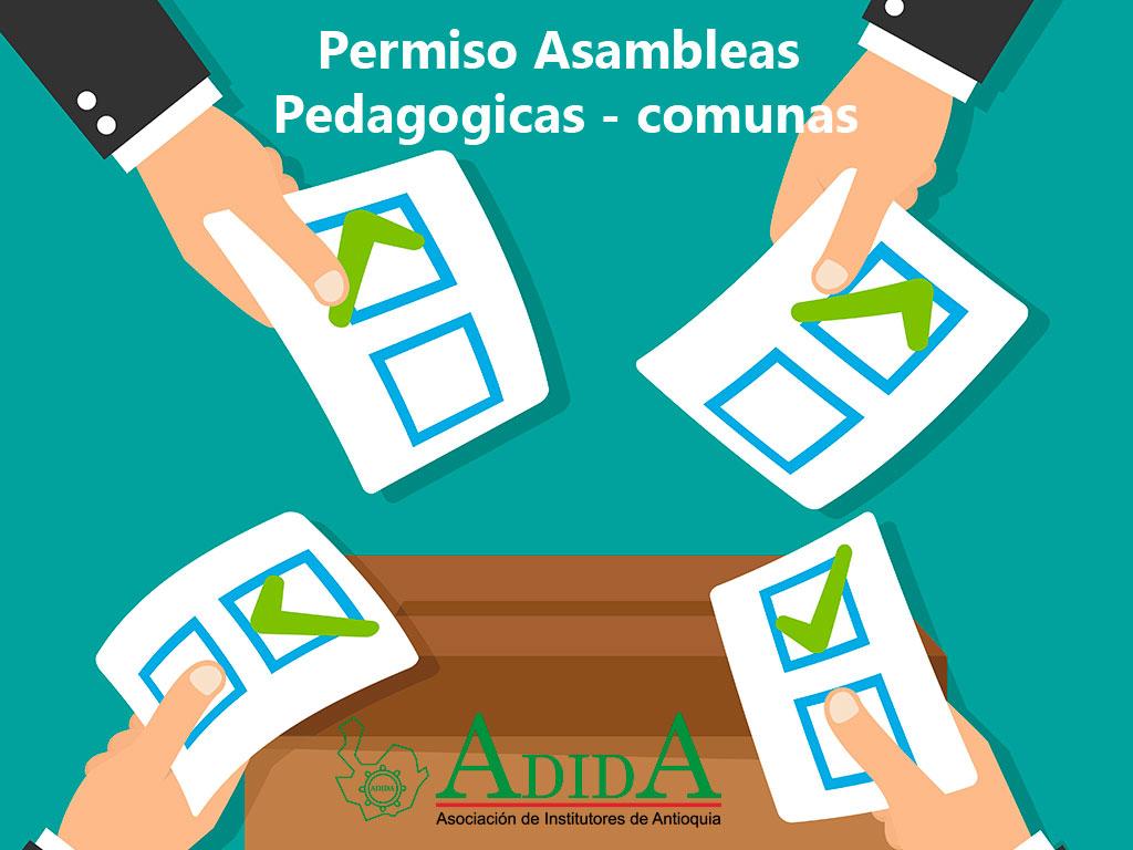 Permiso Asambleas Pedagógicas - comunas