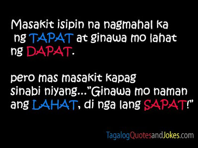 Sad Quotes About Love Tagalog Version : friendship quotes tagalog tagalog love friend quotes pinoy bitter ...