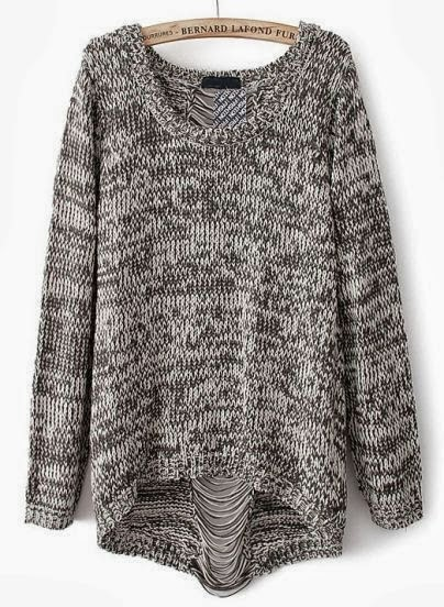Amazing grey oversize sweater for fall