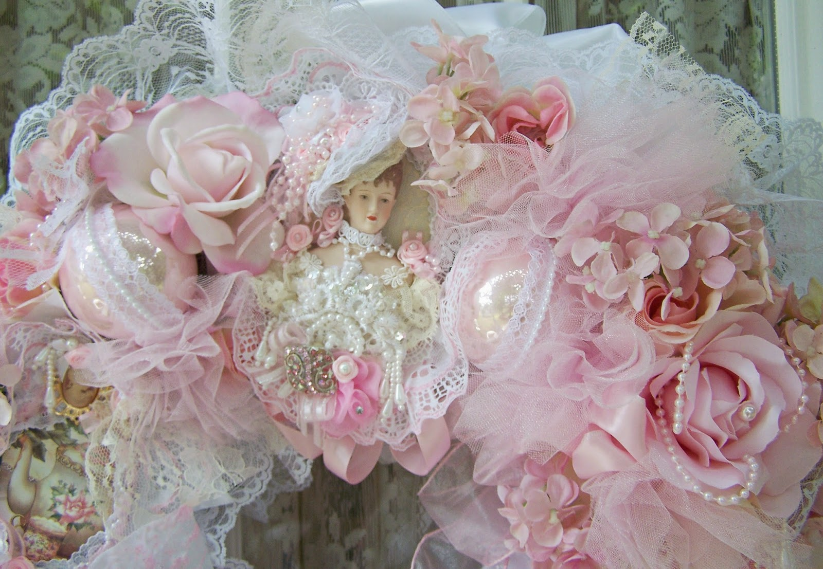 Olivia 39 s romantic home lady victorianna tea party wreath for Victorian tea party supplies