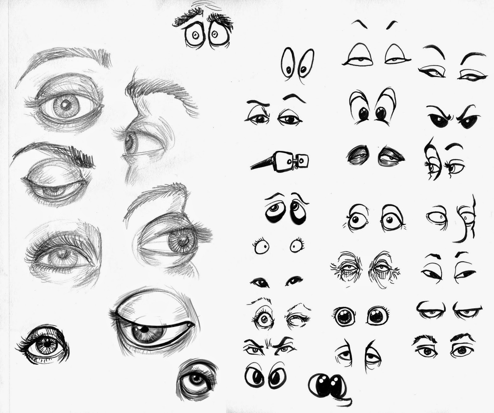 Character Design Eyes : Daily sketches art by chris character design class