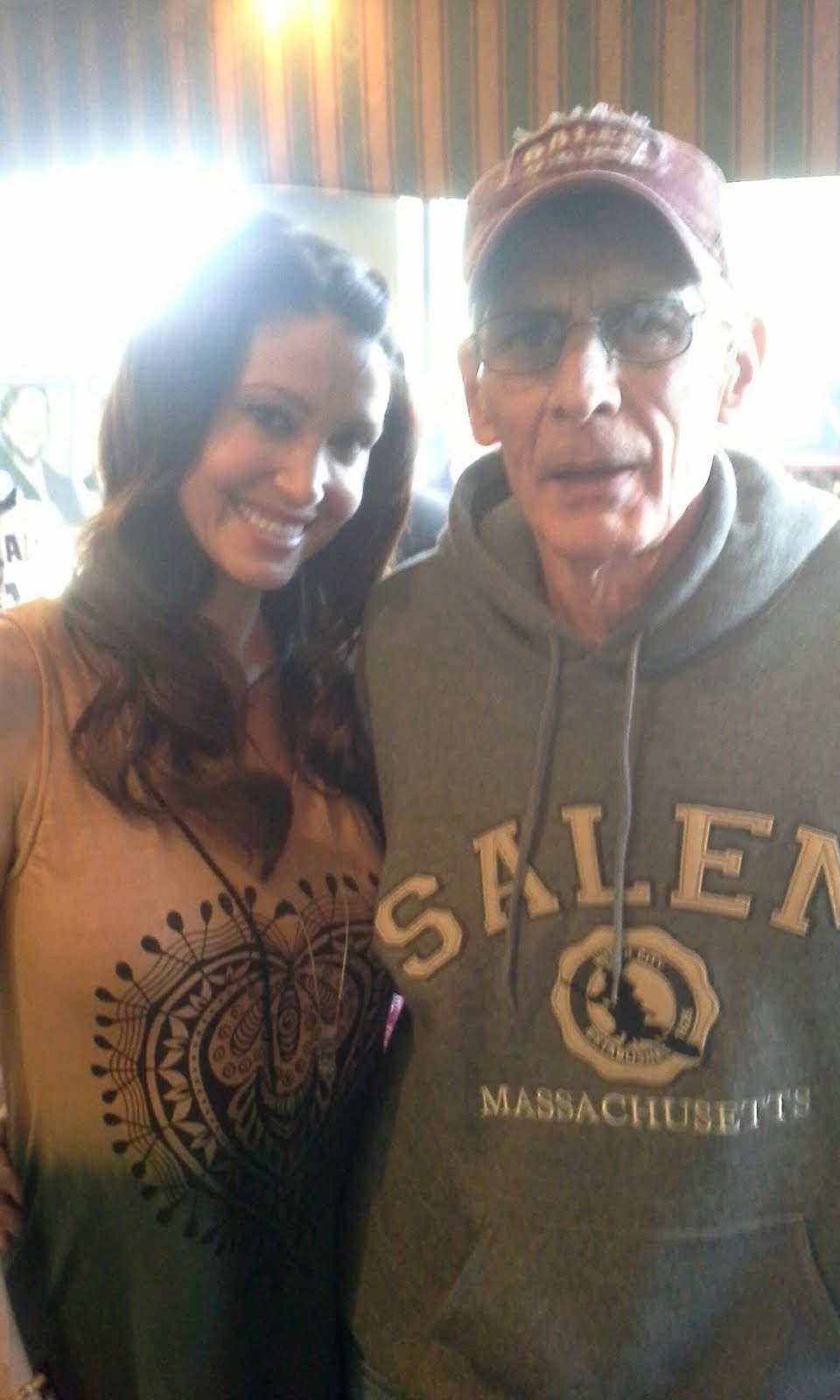 Dad with Shannon Elizabeth