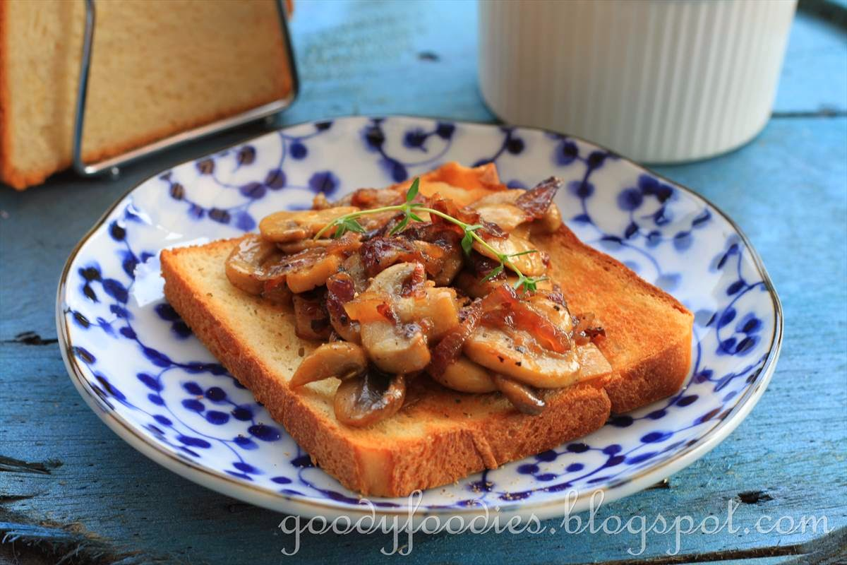 goodyfoodies recipe caramelised shallot mushroom