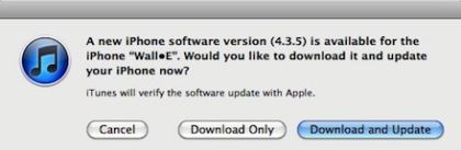 iOS 4.3.5 Certificate Validation Update via iTunes or Direct Downloads