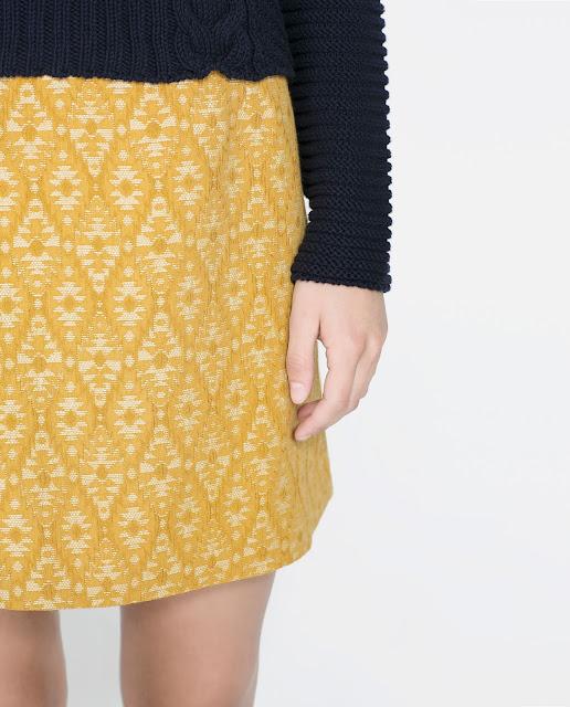 gold jacquard skirt