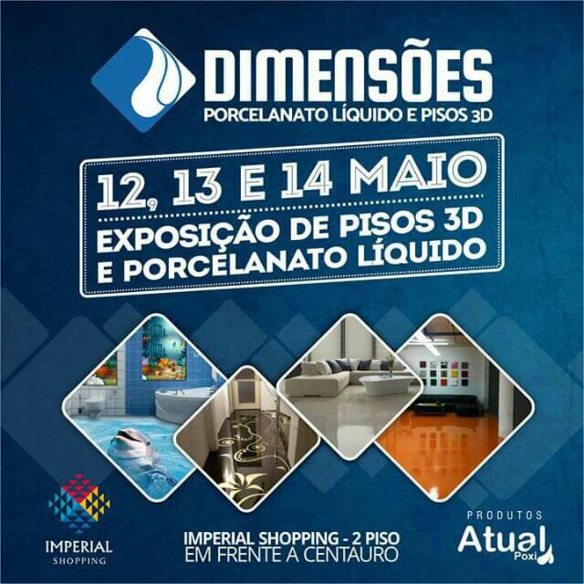 Dimensões Porcelanato líquido e piso 3D
