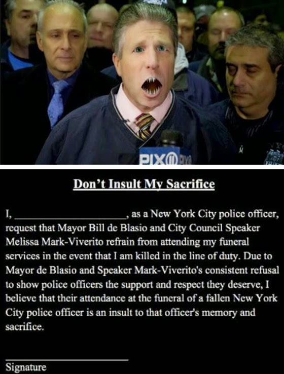 Pat Lynch - NYPD's Union Chief: A blood thirsty publicity hound who thinks police should be allowed to kill unarmed, innocent blacks and suffer no consequences whatsoever. He circulated the anti-de Blasio petition which was rejected by 96 percent of NYPD officers.