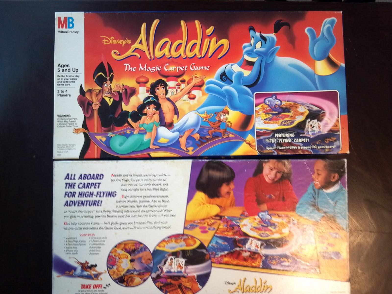 Game: Aladdin the Magic Carpet Game Manufacturer: Milton Bradley Year: 1992