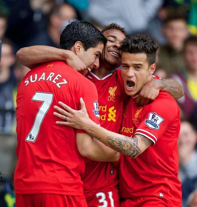 Suarez dan Sterling menjadi momok bagi pertahanan Norwich City