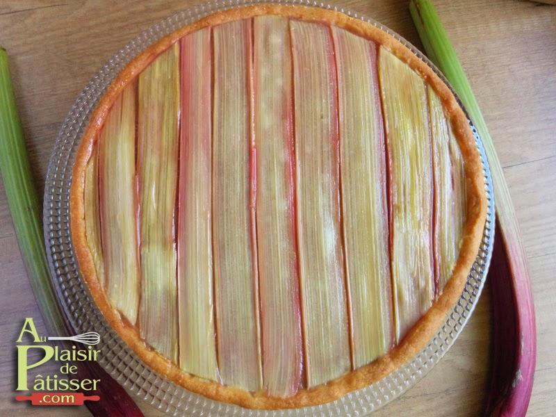 Au plaisir de p tisser tarte la rhubarbe fa on philippe conticini - Quand recolter la rhubarbe ...