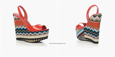 Cabo Red Patent Tribal Aztec Print wedges - Louise Roe for Stylist Pick - iloveankara.blogspot.com