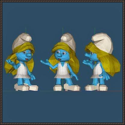 The Smurfs – Smurfette Free Papercraft