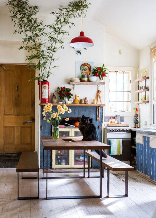 Chicdeco blog 10 bellos comedores con mesas de picnic10 - Mesas cocina vintage ...