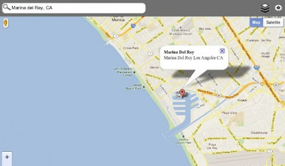 MapSearch application for Blackberry Playbook