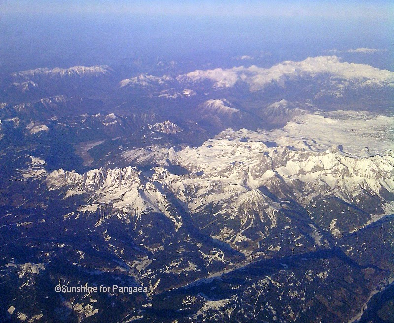 aerial photo of the western alps