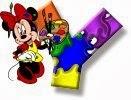 Alfabeto de Minnie Mouse pintando Y.