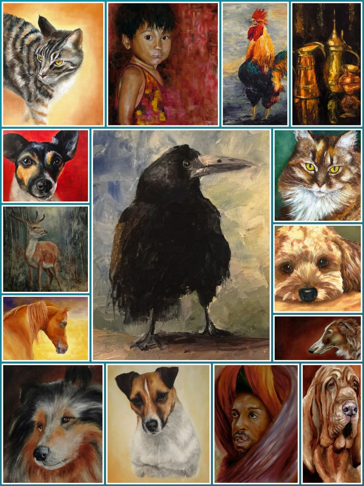 my favourite paintings from 2014, oil paintings at pet portraits by karen