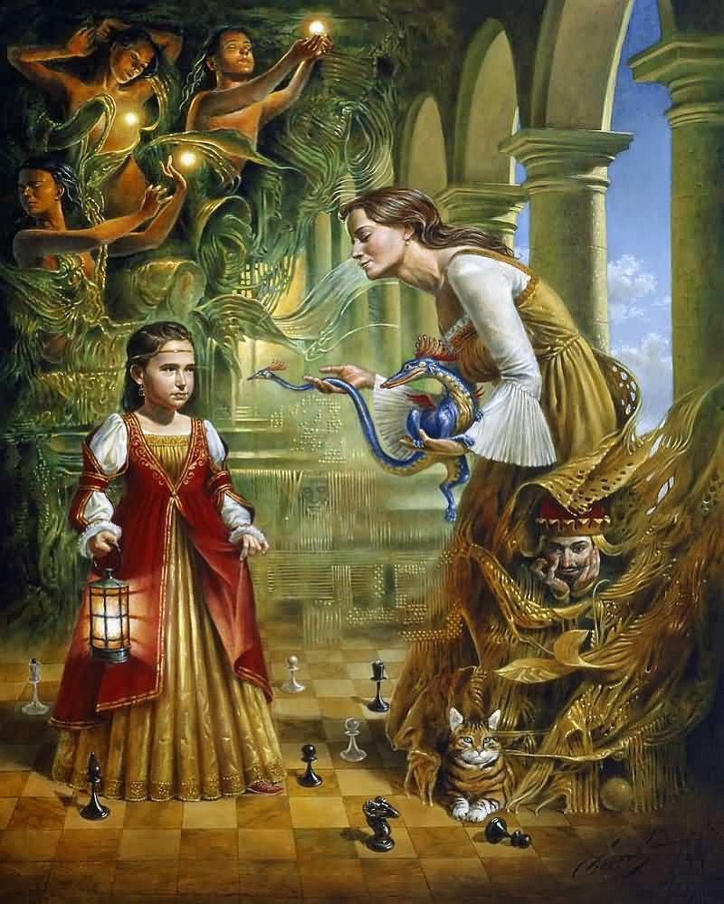 15-Michael-Cheval-On-the-Edge-of-Eternity-Surreal-Absurdist-Paintings-www-designstack-co