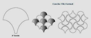Arabesque Conche Spanish Paver Handmade Cement Tile patterns