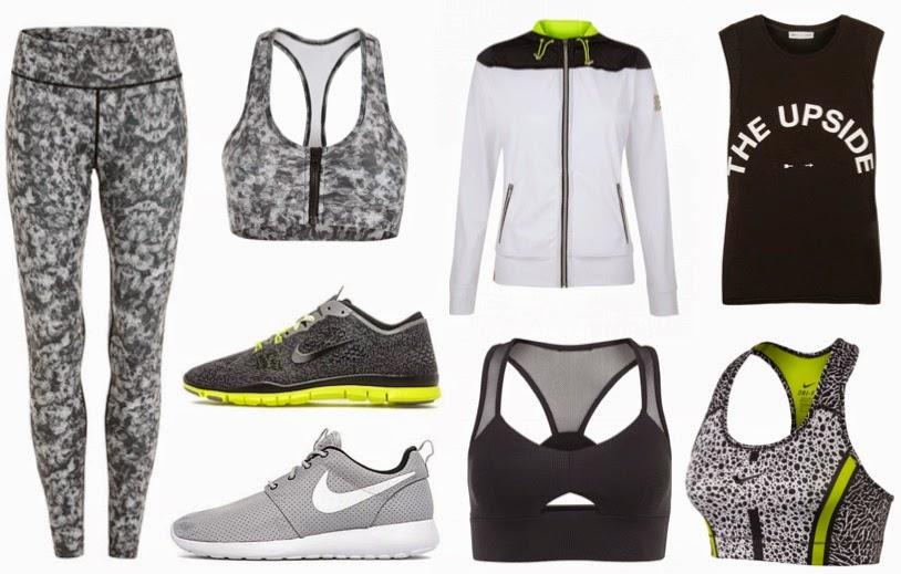 A/W14 Activewear Wishlist Monochrome SportsLuxe