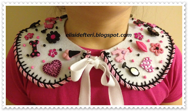 peter pan felt collar